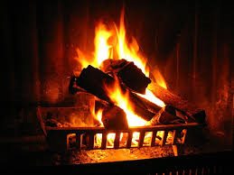 An open fire, warm air goes up chimney, radiant heat warms the room,the science of modern electric heating